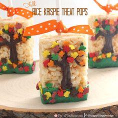 Fall Tree Rice Krispie Treats | Hungry Happenings | Bloglovin'