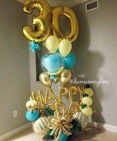 52 New Ideas Birthday Presents Ideas Birthday Goals, 30th Birthday Gifts, Birthday Diy, Birthday Presents, Balloon Arrangements, Balloon Decorations, Birthday Decorations, Balloon Columns, Balloon Arch