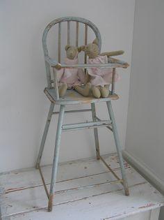 Antieke poppenstoel turquoise pastelblauw nieuwe artikelen new products - Chair antieke ...
