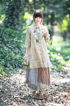 Made in Asia — Mori girl style Tokyo Street Fashion, Japanese Street Fashion, Style Grunge, Soft Grunge, Moda Mori, Mori Mode, Vivienne Westwood, Girl Japanese, Forest Fashion