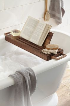 Book shelf for the bath tub.