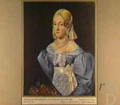 Jan Hendrik Heijmans Portret van Fries meisje in het blauw, 1829 Leeuwarden, Stadhuis Leeuwarden #Friesland