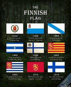 The Finnish flag has come a long way since the first Finnish proto-flag was introduced in This picture introduces nine selected flag designs from . The Finnish Flag Red And Yellow Flag, History Of Finland, Learn Finnish, Map Pictures, Alternate History, Flags Of The World, Flag Design, Coat Of Arms, Genealogy