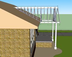 open gable patio cover design | Building a Gable end porch cover. Tying into existing roof