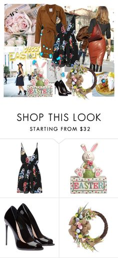 """Happy Easter to my friends{orthodox Easter)"" by eiliana ❤ liked on Polyvore featuring Glamorous"