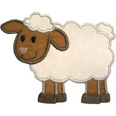 Lamb Applique Machine Embroidery Digital Design by HappyApplique