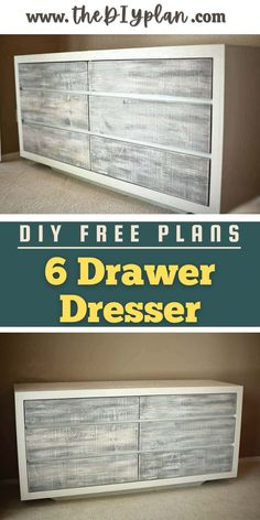 If you're tired of clothes toppling from open shelves or hanging on the back of chairs. The perfect dresser offers much-needed drawers and critical counter space. So I decided to create DIY 6 Drawer Dresser plans for those who want to build it and eliminate all kinds of visual disorders.   Creative Woodworking Ideas   Wood Working for Beginners   Home Improvement   #freeplans #diy #woodworking #diybstorage #farmhousedecor #dresser #woodproject #farmhousestyle #storage #carpentrydiy…
