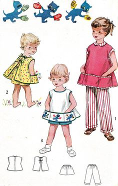 Vintage Sewing Pattern 1950s Simplicity 4384 Girls by paneenjerez, $12.00