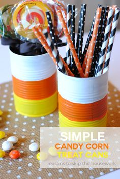 candy corn treat can