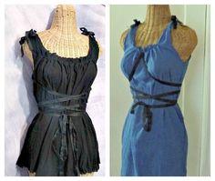 Fairy Corset Dress Ren Faire Short Corset Gauze Black, Royal Dark Fairy Gothic Custom Gretel Womens