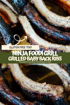 Make these DELICIOUS Ninja Foodi Grilled Baby Back Ribs in just 20 minutes, perfectly tender and full of flavor! Grilled Steak Recipes, Grilling Recipes, Head Country Bbq Sauce Recipe, Grilled Baby Back Ribs, Country Style Ribs, Ribs On Grill, Recipe Please, Sweet And Spicy, Sauce Recipes