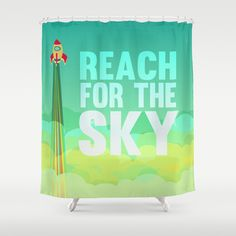 reach for the sky.. toy story.. woody Shower Curtain by studiomarshallarts - $68.00
