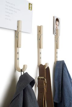 jpeg coat hooks by Thabto For adults, put their mail in it, for kids put something they need to take with them like signed permission slips.