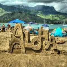 Aloha Sand Castle  Aug 11, 2012 Hanalei Bay, Kauai