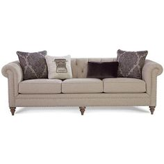 Sofa in Emotion Beige   Nebraska Furniture Mart ❤ liked on Polyvore featuring home, furniture, sofas, antiqued white furniture, cream colored couch, handmade furniture, cream sofa and cream furniture