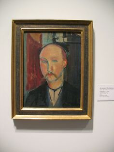 Portrait of a Man with Moustache  for more Amedeo Modigliani oil paintings please visit http://www.painting-in-oil.com/artworks-Modigliani-Amedeo.html
