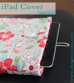 Ipad/ereader cover.. I added an outside pocket bound with coordinating bias tape. Very simple easy to do pattern.. just measure your device and sew..