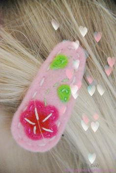 giddy giddy Baby-Haarspange Little Girl Hairclip Schmetterling blue