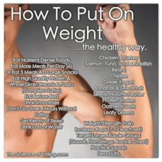 How To Gain Weight: Most of the people who contact me ask for my advice about how to lose weight, but some of my clients are actually trying to pack on pounds, and it's not as simple as it may seem. Here are the healthy ways to attack this issue! Workouts To Gain Weight, Tips To Gain Weight, Gain Weight Men, Rapid Weight Loss, Weight Gain Shake, Weight Gain Journey, Put On Weight, Weight Gain Meals, Weight Lifting
