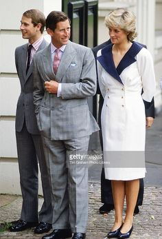August 4, 1987: Prince Charles and Princess Diana and Prince Edward outside of Clarence House on the occasion of the Queen Mother's 87th birthday.