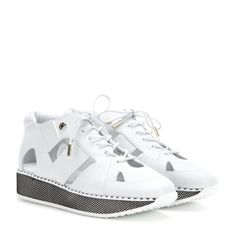 mytheresa.com - Morton cut-out leather sneakers - Current week - New Arrivals - Jimmy Choo - Luxury Fashion for Women / Designer clothing, shoes, bags