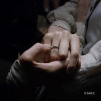 GIFs for the STARZ Original Series Outlander. Hands of Jamie and Claire Fraser.