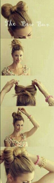 The Bow Bun so cool!