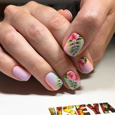 Wow love these stiletto acrylic nails! Wow love these stiletto acrylic nails! Tropical Nail Designs, Nail Designs Spring, Nail Art Designs, Perfect Nails, Gorgeous Nails, Hawaiian Flower Nails, Tropical Flower Nails, Almond Acrylic Nails, Flower Nail Art