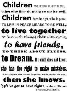 Children's Rights poster for the classroom. (Printout)