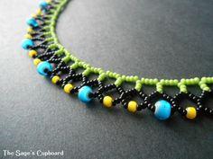 Pop Mini Collar in Blue, Yellow, Green and Black #jewelry #summer
