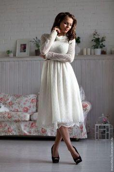 """Платья ручной работы. Ярмарка Мастеров - ручная работа. Купить Платье """" Снежок"""". Handmade. Белый, платье на праздник"""