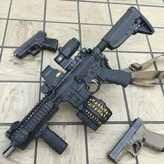 Guns America 2-18-2018. Airsoft Guns, Weapons Guns, Guns And Ammo, Assault Weapon, Assault Rifle, Weapon Storage, Ar Pistol, Cool Guns, Awesome Guns