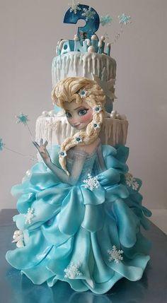 43 Ideas For Birthday Food Frozen Kids Frozen Birthday Party, Elsa Birthday Cake, Birthday Kids, Princess Birthday, Bolo Frozen, Elsa Frozen Cake, Frozen Pinata, Frozen Cake Pops, Frozen Theme Cake