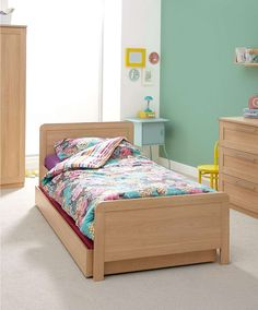Rialto Single Bed with Sleepover Trundle including 2 Mattresses - Furniture - Mamas & Papas Girls Bedroom Storage, Room Design Bedroom, Luxury Bedroom Design, Bedroom Inspo, Kids Bedroom, Nursery Furniture, Bedroom Furniture, Guest Bed, Luxurious Bedrooms