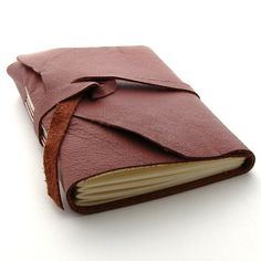 leather bound journal.. Oh the thoughts that this thing would hold.