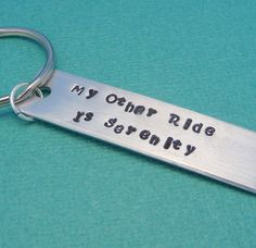 YES! Firefly/Serenity Inspired - My Other Ride Is Serenity- Hand Stamped Aluminum Keychain. $9.95, via Etsy.