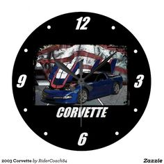 2003 Corvette Large Clock
