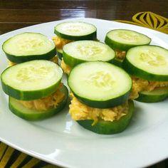 Low carb tuna cucumber sandwich