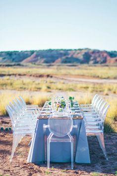 texas desert chic reception table