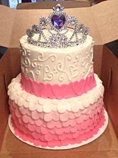 Princess cake, pink, hearts