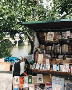 """bookbaristas: """"Never too early for a ? (at Paris, France) """" bookbaristas: """"Never too early for a ? (at Paris, France) """" For Emma Forever Ago, Pont Paris, Usa Tumblr, Book Aesthetic, City Aesthetic, Book Worms, Book Lovers, Books To Read, Literature"""