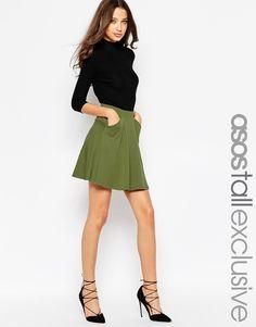 ASOS TALL Skater Skirt With Pockets