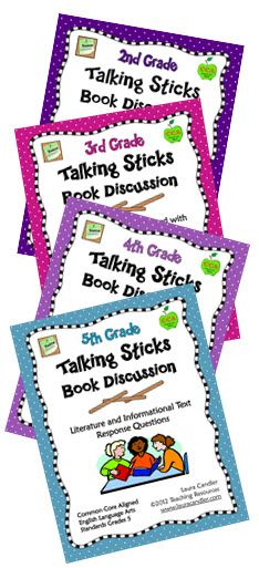 Talking Sticks Common Core Combo - Talking Sticks is a strategy that encourages all students to participate equally in a discussion. It can be used after a read aloud, as a part of Literature Circles, during small group literacy instruction or in a whole group. This combo pack includes all four Talking Sticks Book Discussion Mini Packs. You can purchase them as a combo or individually.$