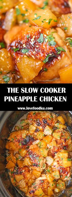 THE SLOW COOKER PINEAPPLE CHICKEN THAT YOU'LL NEVER STOP EATING - #recipes