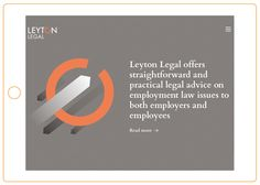 Web design for the law firm Leyton Legal by Richard Chapman Studio