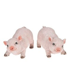 Look what I found on #zulily! Pig Figurine - Set of Two #zulilyfinds