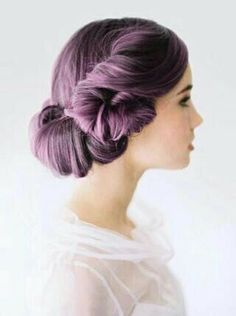 Dark Lavender hair-something to transition to grey
