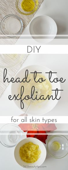 DIY natural head to toe exfoliant: scrub all over with this homemade exfoliant and get soft, smooth skin in just a few minutes!