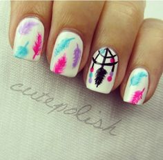 Image via We Heart It #awesome #beauty #colors #cute #dreamcatcher #dreamcatcher #esmalte #feather #feathers #female #femenino #girly #manicure #nailart #nailpolish #nails #nice #pink #pretty #teen #tumblr #uñas #plumas #dreamming #forgirls #atrapasueÑos #pintauñas #manicura #dreamcatchernails #hugyouforevertumblrcom