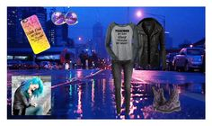 """."" by oosammyoo on Polyvore featuring Mode, Casetify, LE3NO, H&M und Dr. Martens"